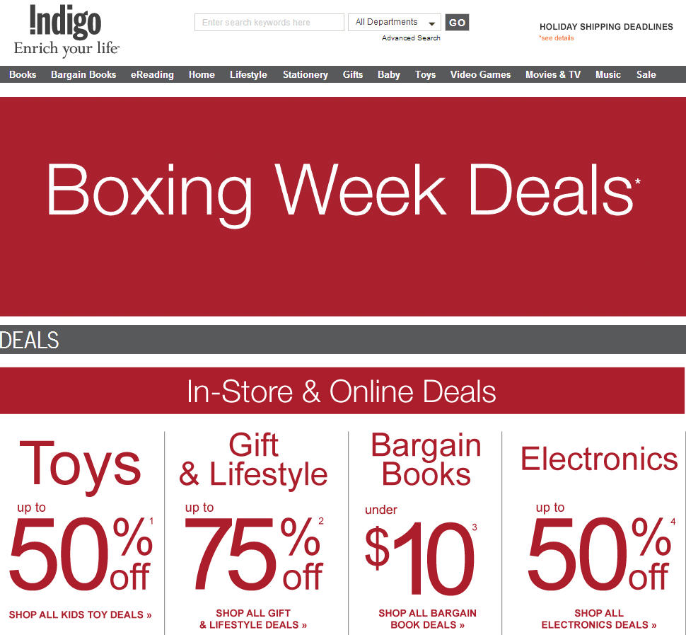 boxing day deals online