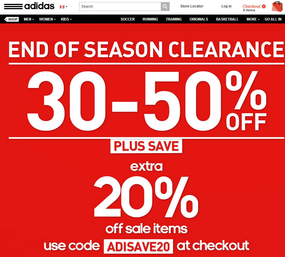 acheter pas cher 43068 a19c5 Adidas: 30%-50% Off End of Season Clearance + Extra 20% Off ...