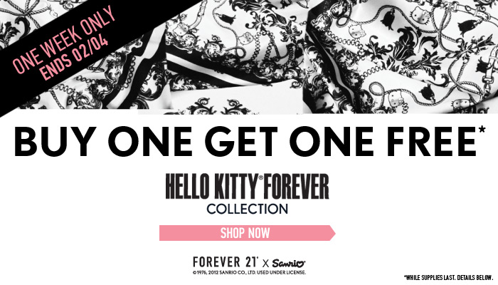 Forever 21 Hello Kitty Collection - Buy One Get One Free (Until Feb 4)