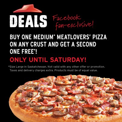 Pizza Hut Buy One Medium Meatlovers' Pizza, Get One Free (Until Feb 2)