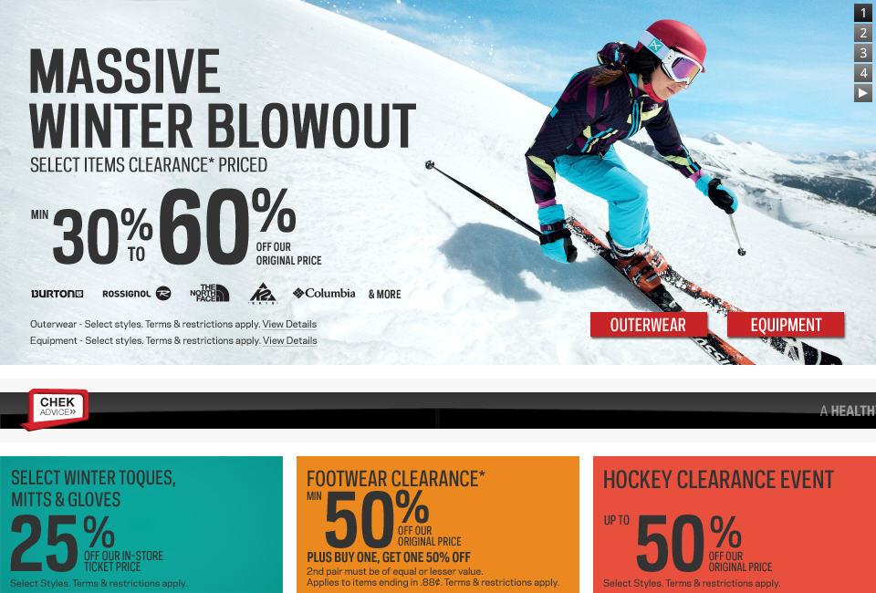 Sport Chek Massive Winter Blowout Sale (Jan 30 - Feb 11)