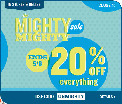 Old Navy 20 Off Everything In-Store & Online (Until May 6)