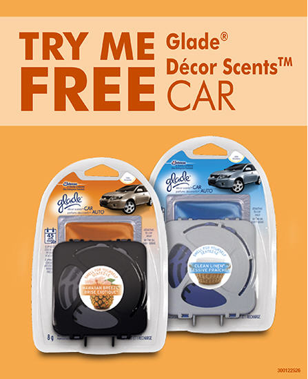 Save FREE Glade Decor Scents Car Coupon