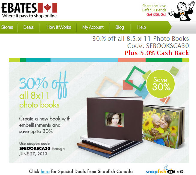 Coupon snapfish canada