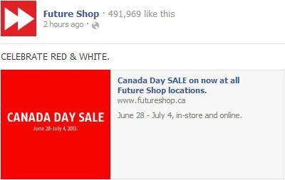 Future Shop Canada Day Sale (June 28 - July 4)
