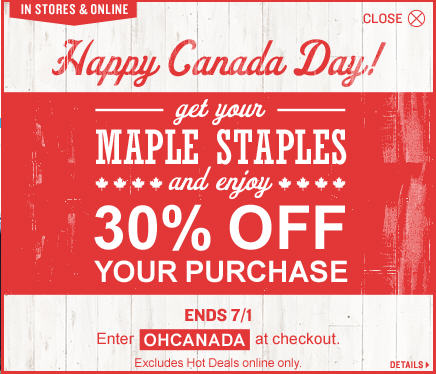 Old Navy Canada Day Sale - 30 Off Your Purchase (Until July 1)