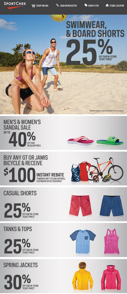 Sport Chek Feel the Heat of the Summer Sale (June 26 - July 8)