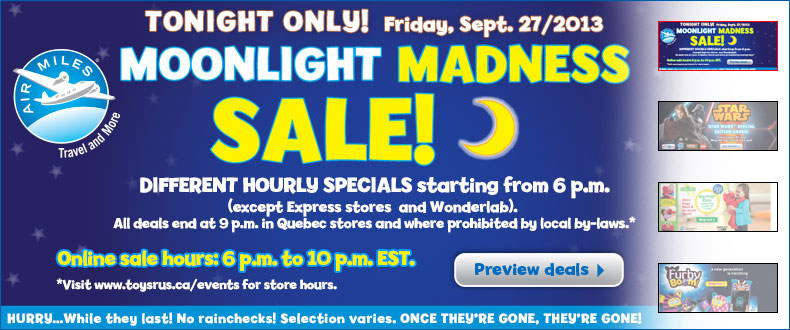 Toys R Us Babies R Us Moonlight Madness Sale (Sept 27, Starting at 6pm)