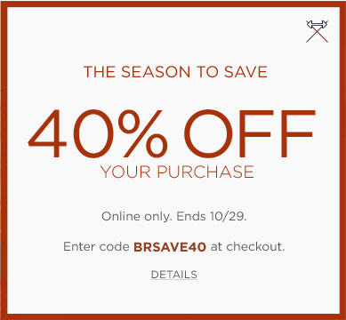 Banana Republic 40 Off Online Purchase Promo Code (Oct 28-29)