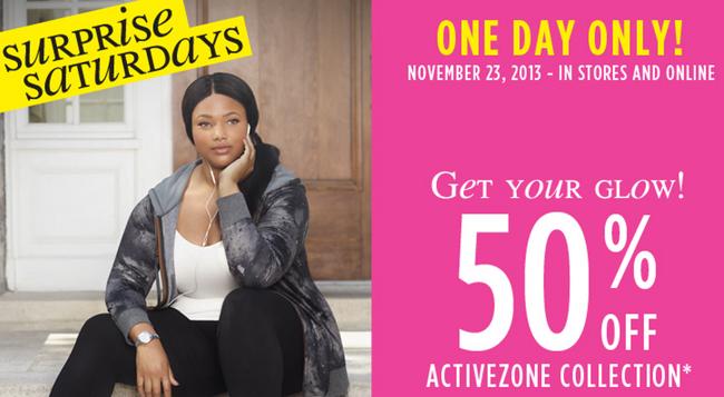 Penningtons Surprise Saturday Sale - 50 Off Activezone Collection (Nov 23 Only)