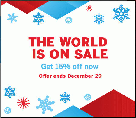 Air Canada Boxing Day Sale - Save 15 Off (Until Dec 29)