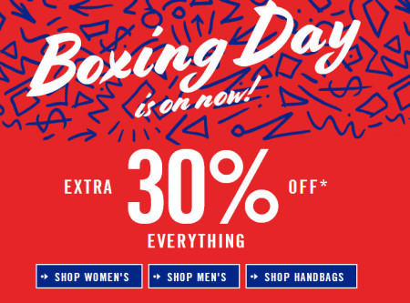 Aldo Shoes Boxing Day - Extra 30 Off Everything (Dec 26)