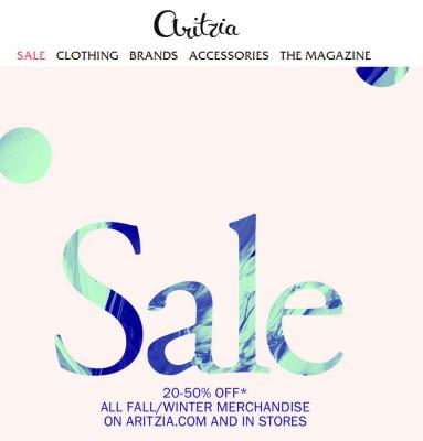 Aritiza Boxing Day - 20-50 Off Fall Wnter Merchandise