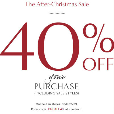 Banana Republic 40 Off Your Entire Purchase + Extra 25 Off Code (Dec 29)