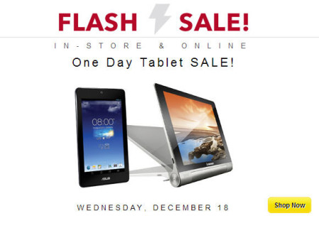 Best Buy 1-Day Tablet Flash Sale (Dec 18)