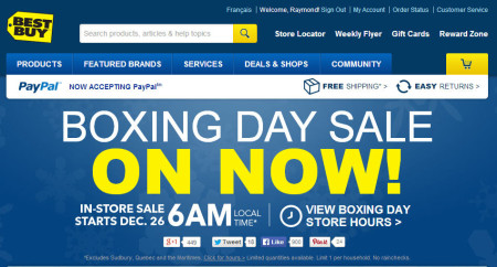 Best Buy Boxing Day Sale on Now (Starts Online on Dec 24, In-Store on Dec 26)