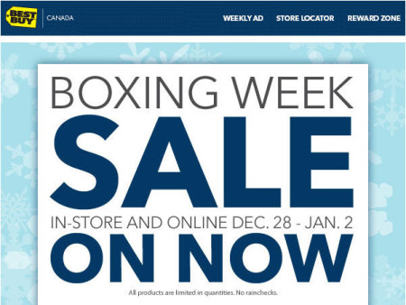 Best Buy Boxing Week Sale (Dec 28 - Jan 2)