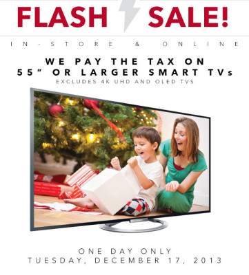 Best Buy Flash Sale - 1-Day TV Sale (Dec 17)