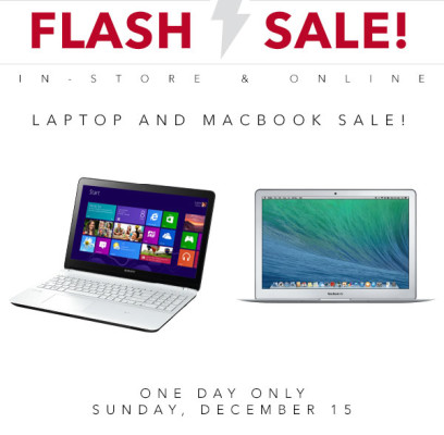 Best Buy Flash Sale - Laptop and Macbook Sale (Dec 15)
