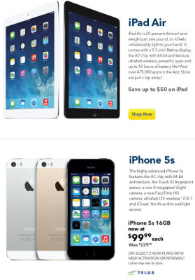 Best Buy Save up to $50 on iPads & iPhone 5s for $99 (Dec 9)