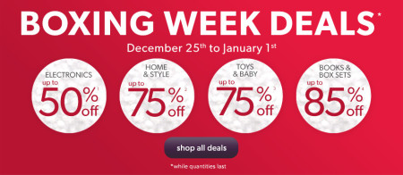 Chapters Indigo Boxing Week Deals Continue (Dec 25 - Jan 1)