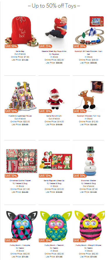 Chapters Indigo Holiday Toy Sale - Save up to 50 Off Toys!