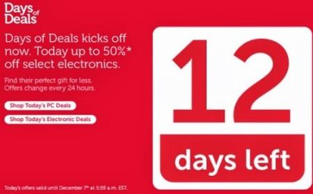 Dell Canada 12 Days of Dell Deals (Dec 5-17)