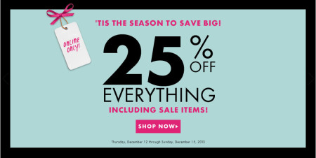 Dynamite Clothing 25 Off Everything + Free Shipping (Dec 12-15)