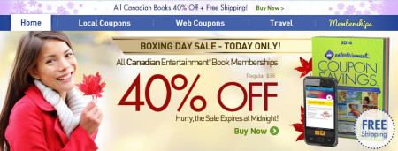 Entertainment Boxing Day - All Canadian Books 40 Off + Free Shipping (Dec 26 Only)