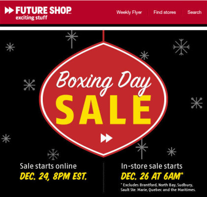 Future Shop Boxing Day Sale - Preview the flyer now