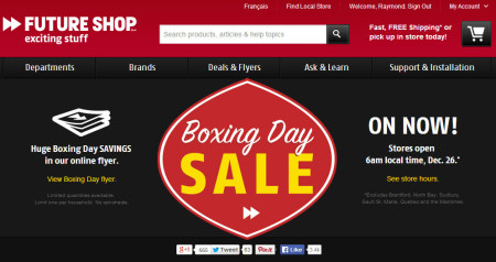 Future Shop Boxing Day Sale on Now!