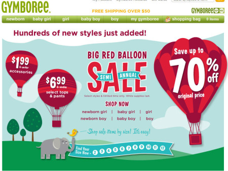 Gymboree Semi Annual Sale - Save up to 70 Off