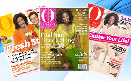 O The Oprah Magazine + Free Shipping