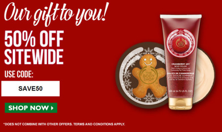 The Body Shop 50 Off Sitewide Promo Code + 8 Cash Back on Ebates.ca (Until Dec 29)