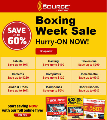 The Source Boxing Week Sale is on Now (Dec 24-31)