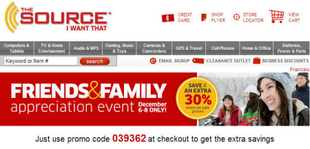 The Source Friends & Family Appreciation Event - Save up to an Extra 30 Off (Dec 6-8)