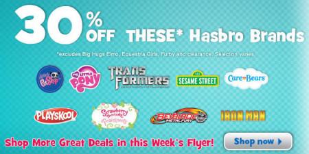 Toys R Us 30 Off Hasbro Brand Toys (Until Dec 19)