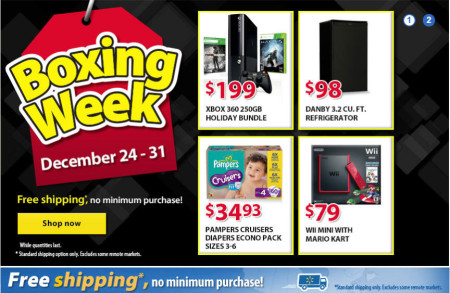 Walmart Boxing Week Sale In-Store or Online (Until Dec 31)