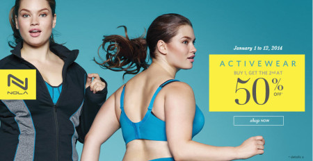 Addition Elle Activewear is Buy One Get One 50 Off (Jan 1-12)