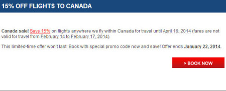 Air Canada Canada Sale - 15 Off Flights within Canada (Book by Jan 22)