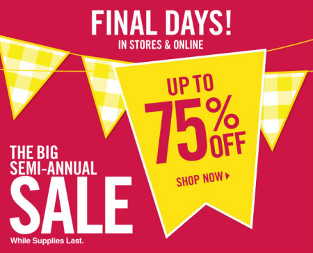 Bath & Body Works Big Semi-Annual Sale - Save up to 75 Off