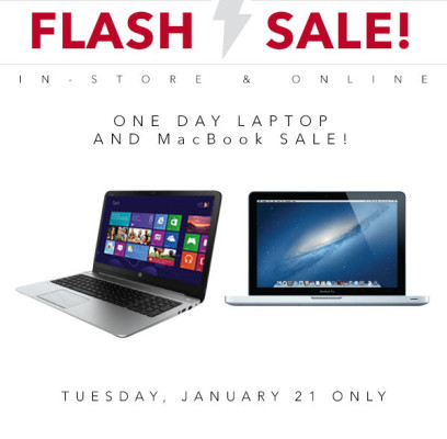 Best Buy 1-Day Laptop and MacBook Flash Sale (Jan 21)