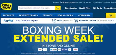 Best Buy Boxing Week Extended Sale (Until Jan 9)