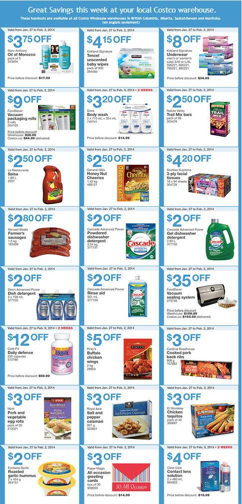 Costco Weekly Handout Instant Savings Coupons West (Jan 27 - Feb 2)
