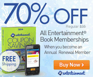 Entertainment Save 70 Off + Free Shipping when you become an Annual Renewal Member (Jan 7-13)