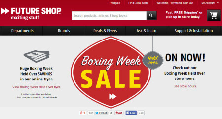 Future Shop Boxing Week Sale Held Over (Until Jan 9)