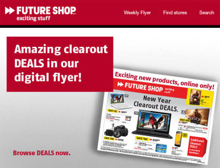 Future Shop New Year Clearout Deals (Jan 10-16)