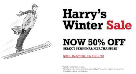 Harry Rosen Harry's Winter Sale - 50 Off Select Seasonal Merchandise