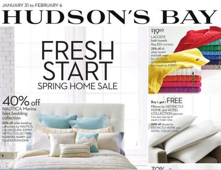 Hudson's Bay Spring Home Sale (Jan 31 - Feb 6)