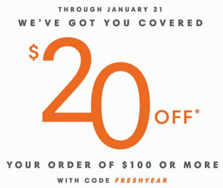 Joe Fresh $20 Off $100 Purchase (Until Jan 21)